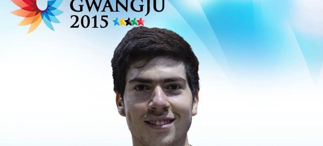 Gwangju 2015: Ignacio Zavala (FEN) representa a Chile en vóleibol