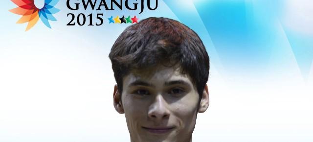 Gwangju 2015: Cristopher Baeza (Medicina) representa a Chile en vóleibol