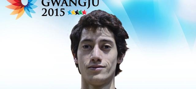 Gwangju 2015: Matías Peralta (FCFM) representa a Chile en vóleibol
